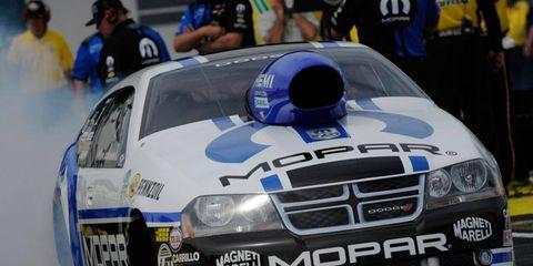 Mopar supports several NHRA drivers, including 2012 Pro Stock champion Allen Johnson.