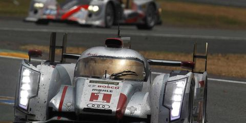 Marcel Fassler and Benoit Treluyer had the fastest car on Saturday, winning the pole for the World Endurance Challenge race.