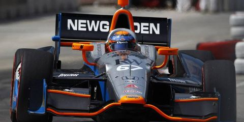 Josef Newgarden talked up the chicanes in Baltimore after IndyCar qualifying on Saturday.