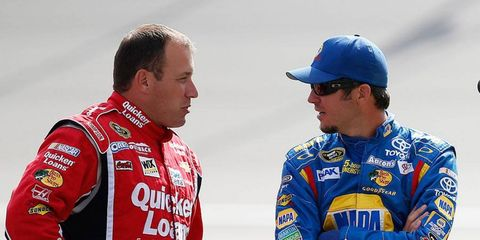 Ryan Newman, left, and Martin Truex Jr., right, will be forever linked in NASCAR Sprint Cup Series history.