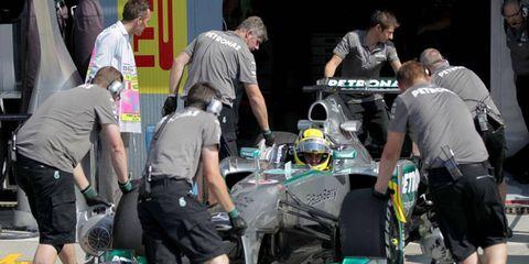 Nico Rosberg qualified sixth for Sunday's Formula One Italian Grand Prix.