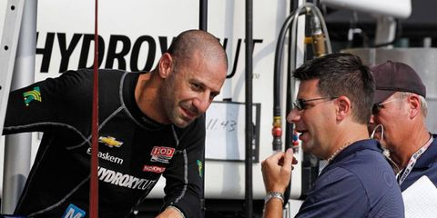 Indianapolis 500 winner Tony Kanaan, left, is weighing his racing options for 2014. Those options may or may not include NASCAR.