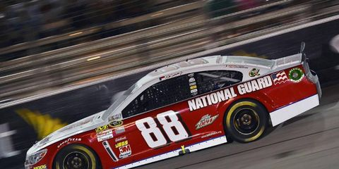 Dale Earnhardt Jr. is currently seventh in the Cup series standings, 87 points behind leader Jimmy Johnson.