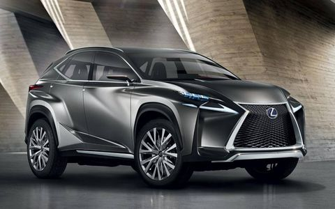 The Lexus LF-NX concept crossover will debut at the Frankfurt auto show on Sept. 10.