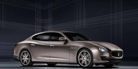 The Maserati Quattroporte Ermenegildo Zegna concept for Frankfurt.