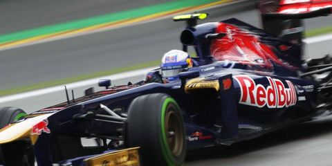 Daniel Ricciardo's seat at Toro Rosso is up for grabs after he was promoted to Red Bull on Monday.