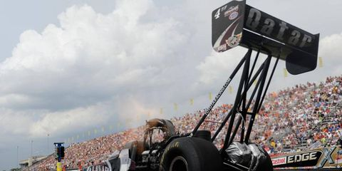 Shawn Langdon swept the weekend in the NHRA Top Fuel class and will lead the field in the upcoming Countdown to the Championship.