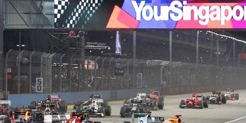 The Formula One racers will do their thing under the lights in Singapore this weekend.