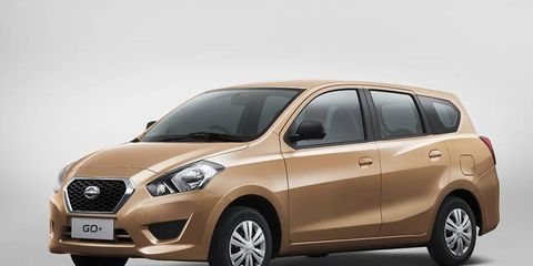 The GO+ is meant to be a small MPV, and it handily fits inside the footprint of a current Ford Focus.