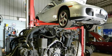 Cantech Automotive of Syracuse, NY repairs damage from a failed IMS bearing.