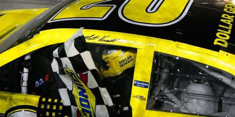 Matt Kenseth takes the checkered flag on Sunday night at Chicagoland to kick off the NASCAR Chase to the Championship.