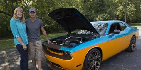 On Tuesday, April Vaught of Nashville, Tenn. took delivery of her brand new 2013 Dodge Challenger SRT8 customized by country music star Tim McGraw