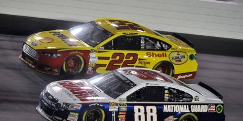 Logano and Earnhardt now occupy the bottom two spots in the Chase, over 50 points behind leader Matt Kenseth.