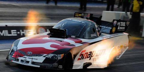 Cruz Pedregon was dominant Friday during NHRA Funny Car qualifying in Charlotte.