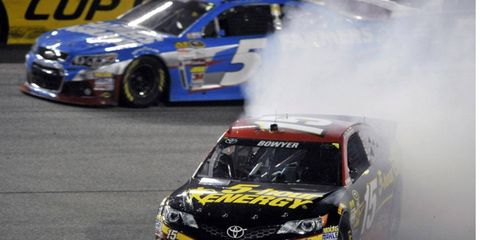 Bowyer does not have any wins during the 2013 season, but he is firmly in the Chase hunt.