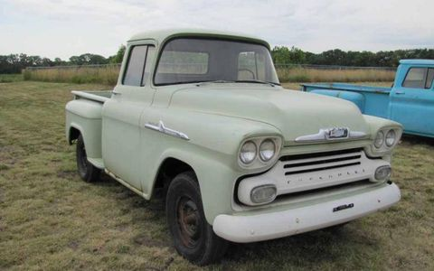 This 1958 Chevrolet Apache pickup has been attracting some attention from bidders.