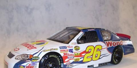 When the Chase heads to Talladega, Kurt Busch will drive a car similar to the one that Will Ferrel drove in the movie, Talladega Nights: The ballad of Ricky Bobby.