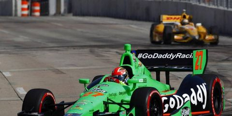 It looks as though James Hinchcliffe won't be driving the GoDaddy car next season. The company appears to be leaving IndyCar as a primary sponsor.