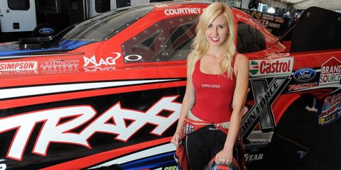 Courtney Force left Dallas eighth in the NHRA Mello Yello Drag Racing Series Funny Car standings.