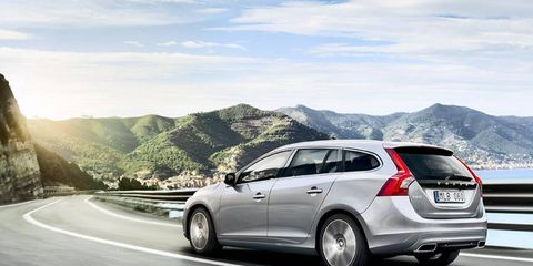 The 325-hp T6 is just one of the engines that'll be available on the V60.