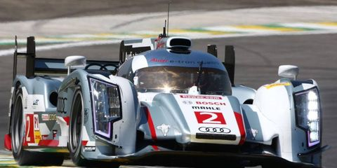 Loic Duval, Allan McNish and Tom Kristensen brought the No. 2 Audi across the line first at Circuit of the Americas on Sunday.