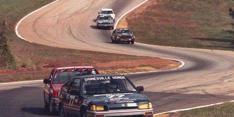 Runoffs action from the 1980s at Road Atlanta.