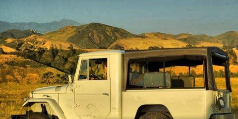 This 1964 Toyota FJ45 pickup has been given some modern updates.