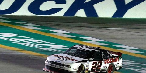 Ryan Blaney won the NASCAR Nationwide Series race at Kentucky on Sept. 21.