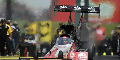 Doug Kalitta left Kansas with a 95-point lead over Antron Brown in the NHRA Top Fuel class.