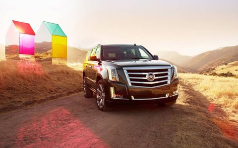 The 2015 Cadillac Escalade features the classic luxurious Cadillac design.