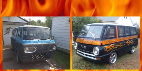 An homage to the time before bubble windows cheapened the custom van.