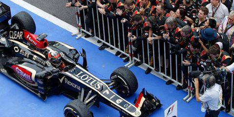 Kimi Raikkonen brought his car home in second place at the Korean Grand Prix on Sunday.