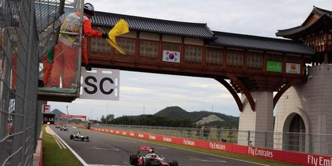 The promoter for the Korean Grand Prix puts the odds at 50-50 that the race returns in 2014. If it does, there is a push to make it a night race on the F1 schedule.