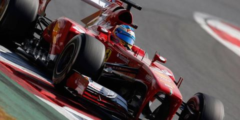 Fernando Alonso trails Sebastian Vettel by 60 points in the Formula One points chase with just six races to go in the season.
