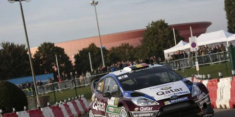 Neuville's lead over Dani Sordo currently stands at 9.8 seconds at Rallye de France.