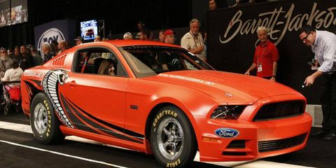 This 2014 Ford Mustang Cobra Jet was sold at Barrett-Jackson.