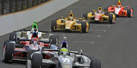Kanaan won the Indianapolis 500 with KV back in May.