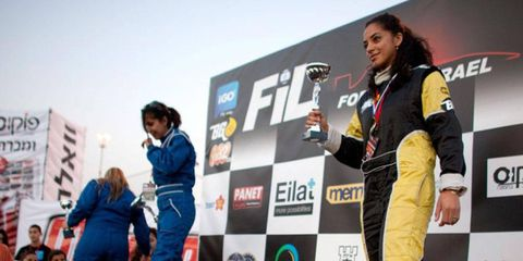 The Speed Sisters are the only female racing team in the Middle East.