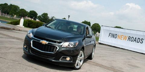 The current Chevy Malibu began production in 2013.