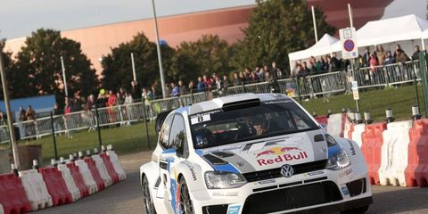 Sébastien Ogier won the World Rally Championship title on Thursday in France. he won during the rally's first leg.