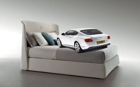 Continental GT 6.0-liter W12 in repose. Canterbury bed by Bentley.
