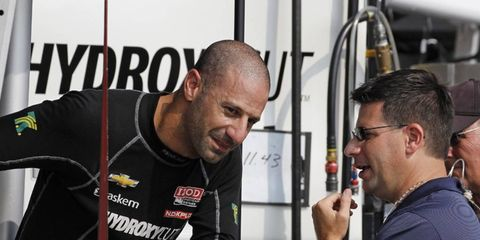 Tony Kanaan has yet to publicly make a decision about his IndyCar future in 2014.