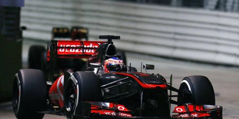 Jenson Button is McLaren's top driver in 2013, currently ranking ninth in the Formula One standings.
