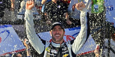 Jimmie Johnson found a way to win at Dover and moves to second in the Chase standings.