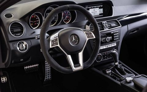 The 2014 Mercedes-Benz C63 AMG Edition 507 gets an AMG steering wheel.