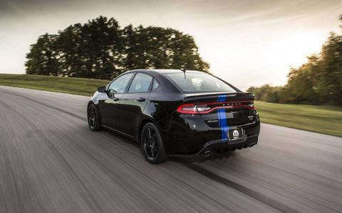Power output stays the same in the Mopar 2013 Dodge Dart.
