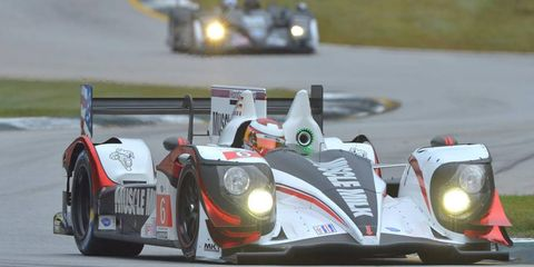 Muscle Milk Pickett Racing Honda HPD-ARX -03c has been flying at Petit Le Mans at Road Atlanta.