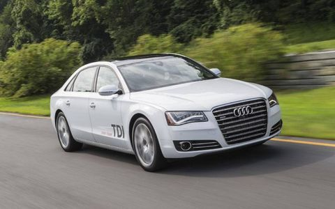 The 2014 Audi A8L TDI is the clean diesel version of Audi's flagship sedan.
