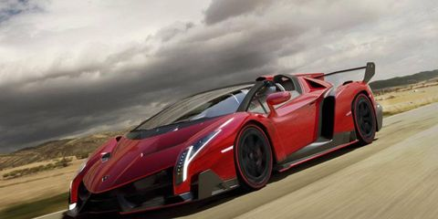 Lamborghini confirmed the Veneno roadster on Friday.