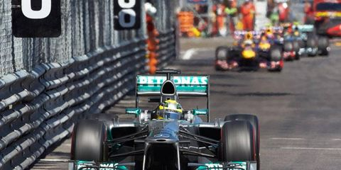 New Jersey Formula One Grand Prix organizers could be getting its hands on street barriers - ones similar to these used in Monaco -- from the failed Valencia F1 effort.